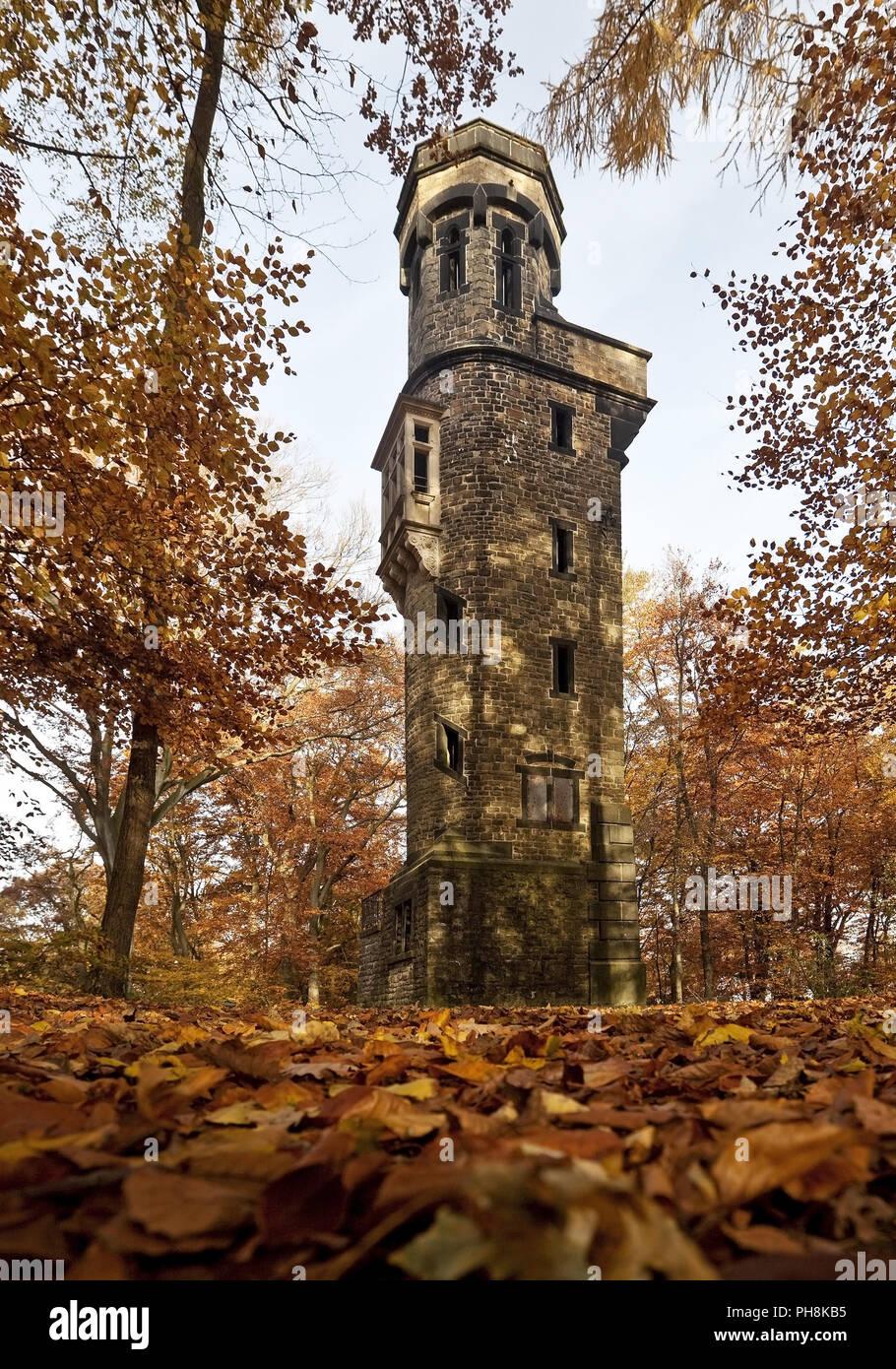 Die Von-der-Heydt-Turm, Herbst, Wuppertal Stockbild