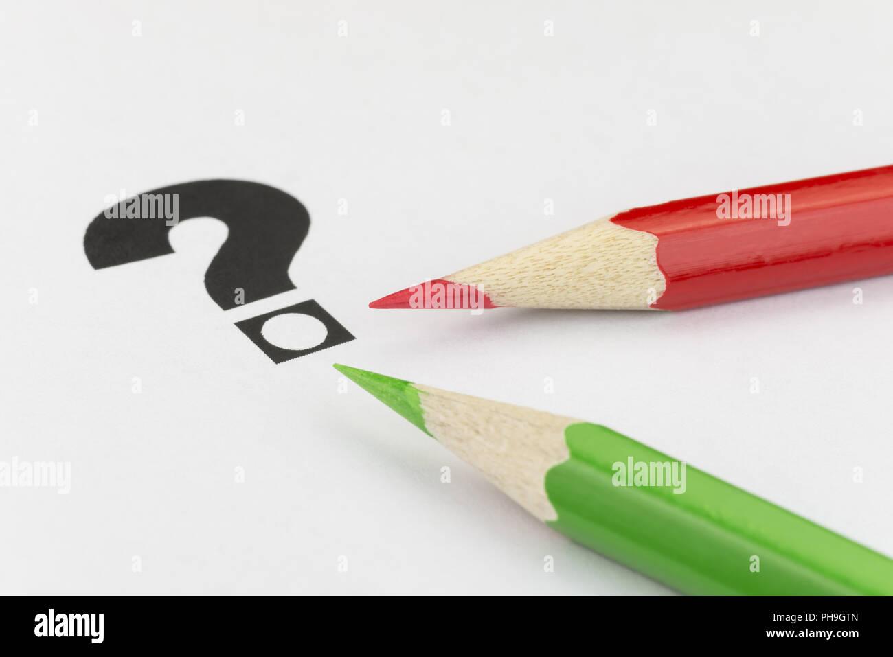 Konzeptionelle Visualisierung von Zweifel stimmen Stockbild