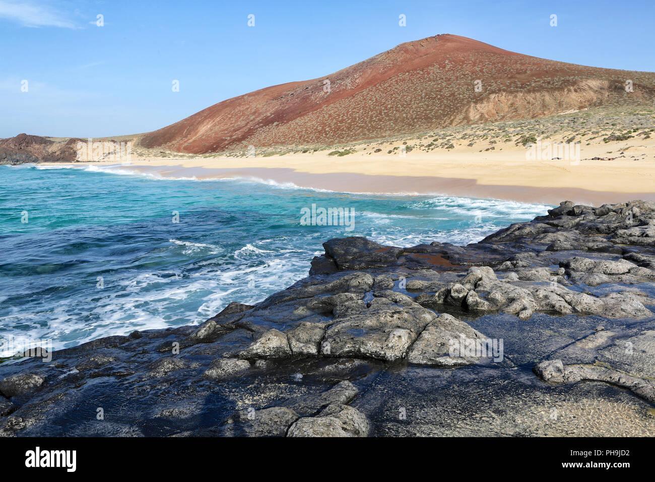 Playa lambra isla Canarias Stockbild