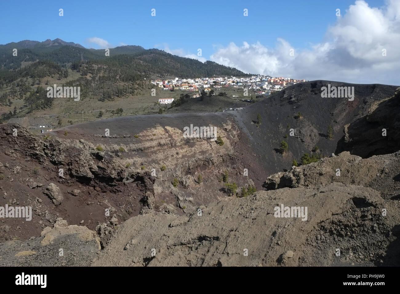 Der Vulkan San Antonio in der Nähe von Los Canarios, La Palma Stockbild