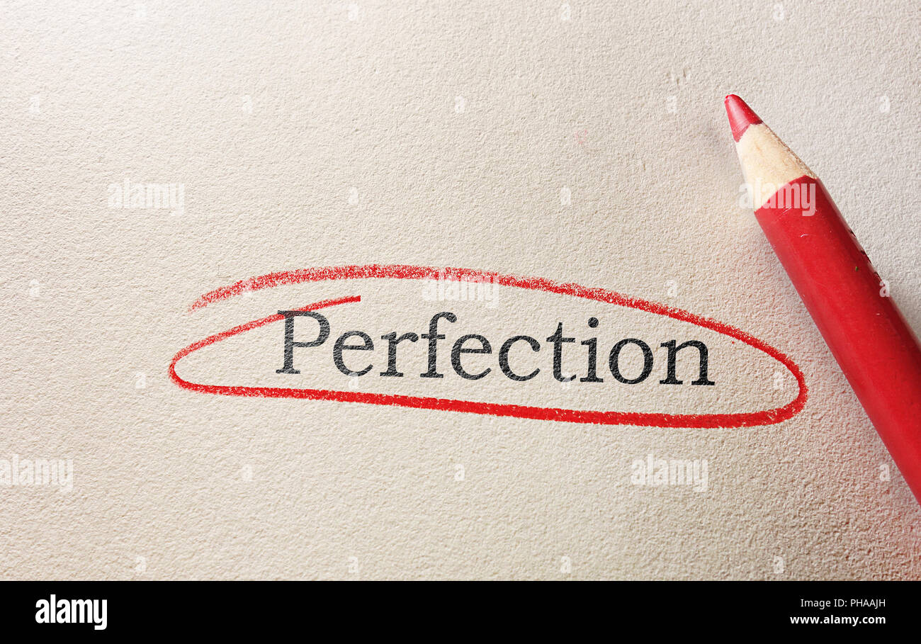 Perfektion Kreis Stockbild