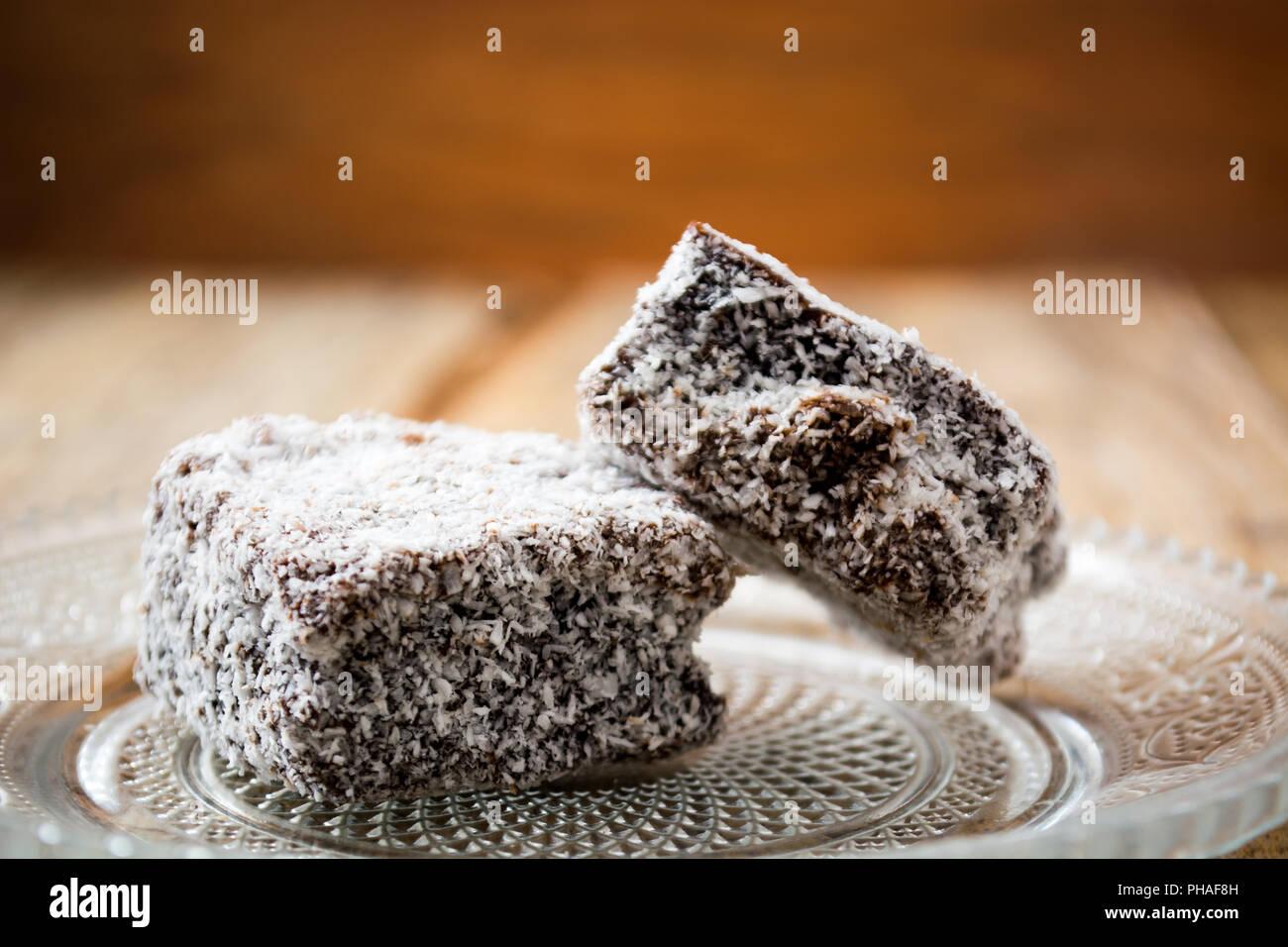 Schokolade Kuchen Mit Kokos Mehl Stockfoto Bild 217205089 Alamy