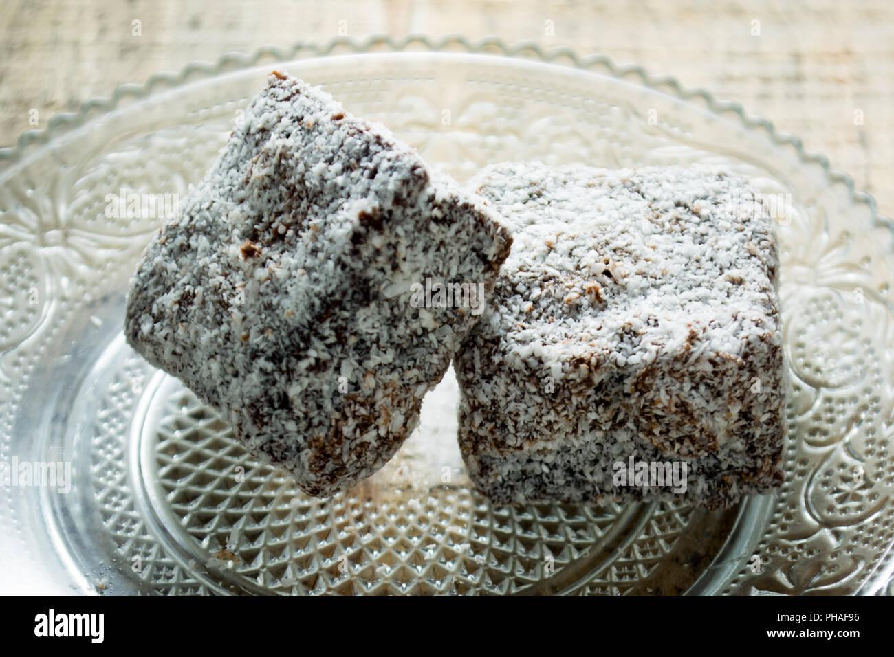 Schokolade Kuchen Mit Kokos Mehl Stockfoto Bild 217205106 Alamy
