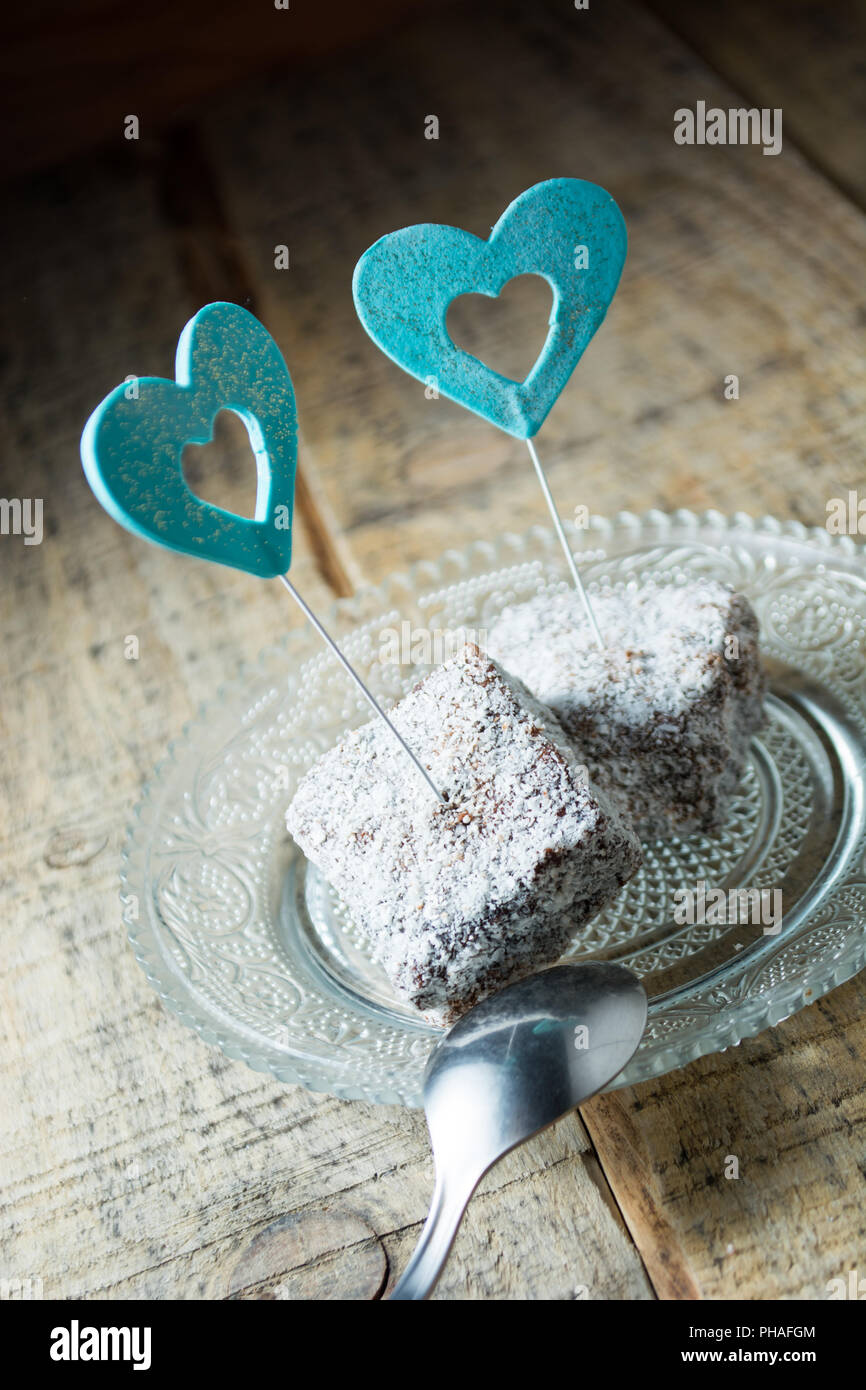 Schokolade Kuchen Mit Kokos Mehl Stockfoto Bild 217205316 Alamy