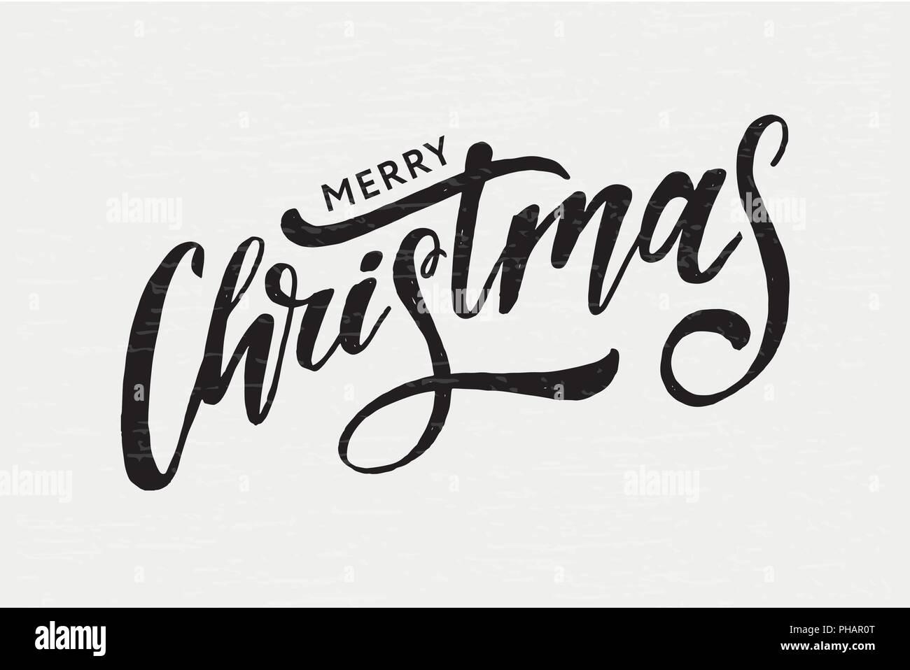 Weihnachten schrift Kalligraphie Pinsel Text Urlaub Aufkleber ...