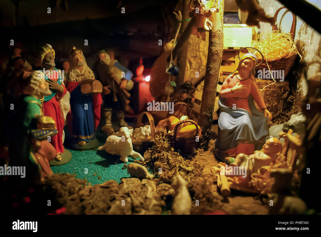 Weihnachten-Krippe Stockfoto