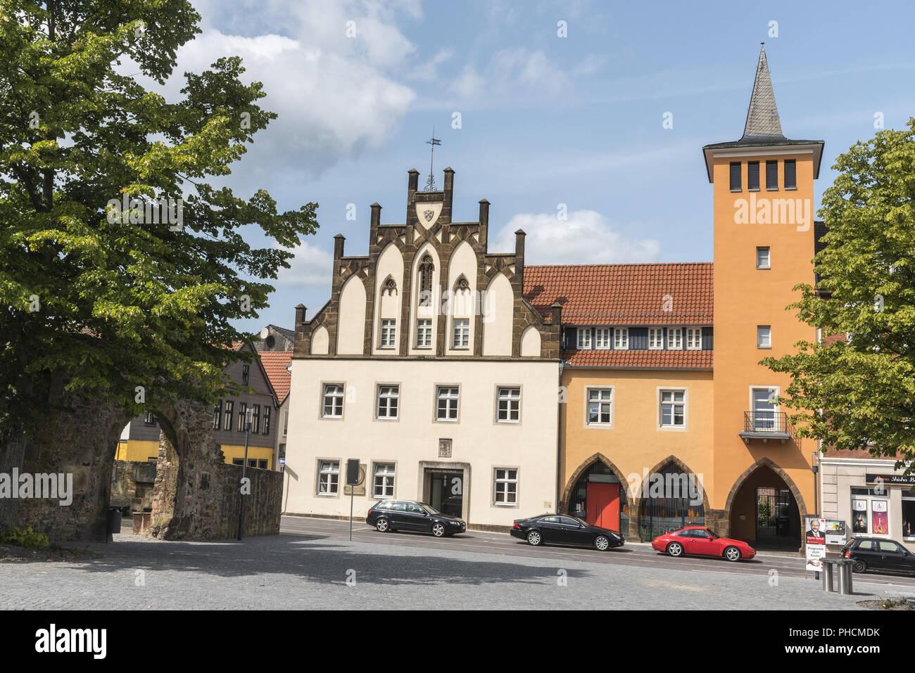 Altes Rathaus, Lübbecke Stockfoto
