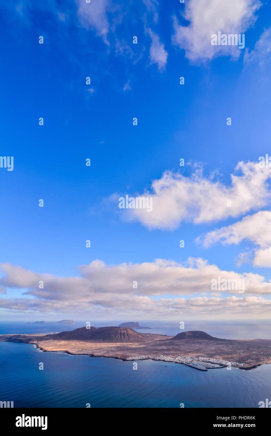 Landschaft im tropischen vulkanischen Kanaren Spanien Stockbild