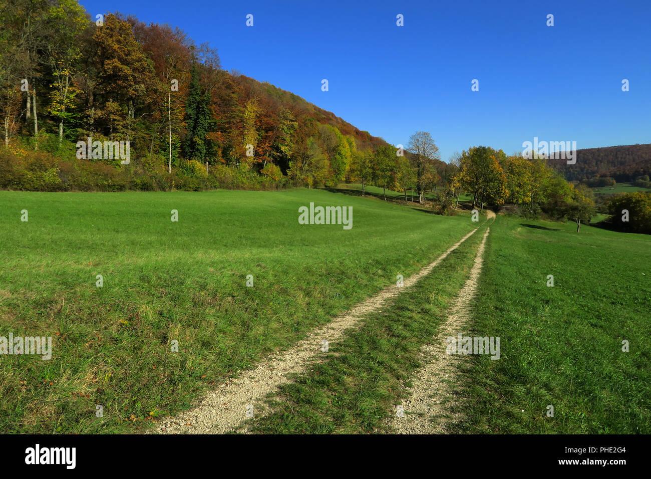 Herbst Landschaft; Schwäbische Alb; schwäbische Alpes; Stockbild