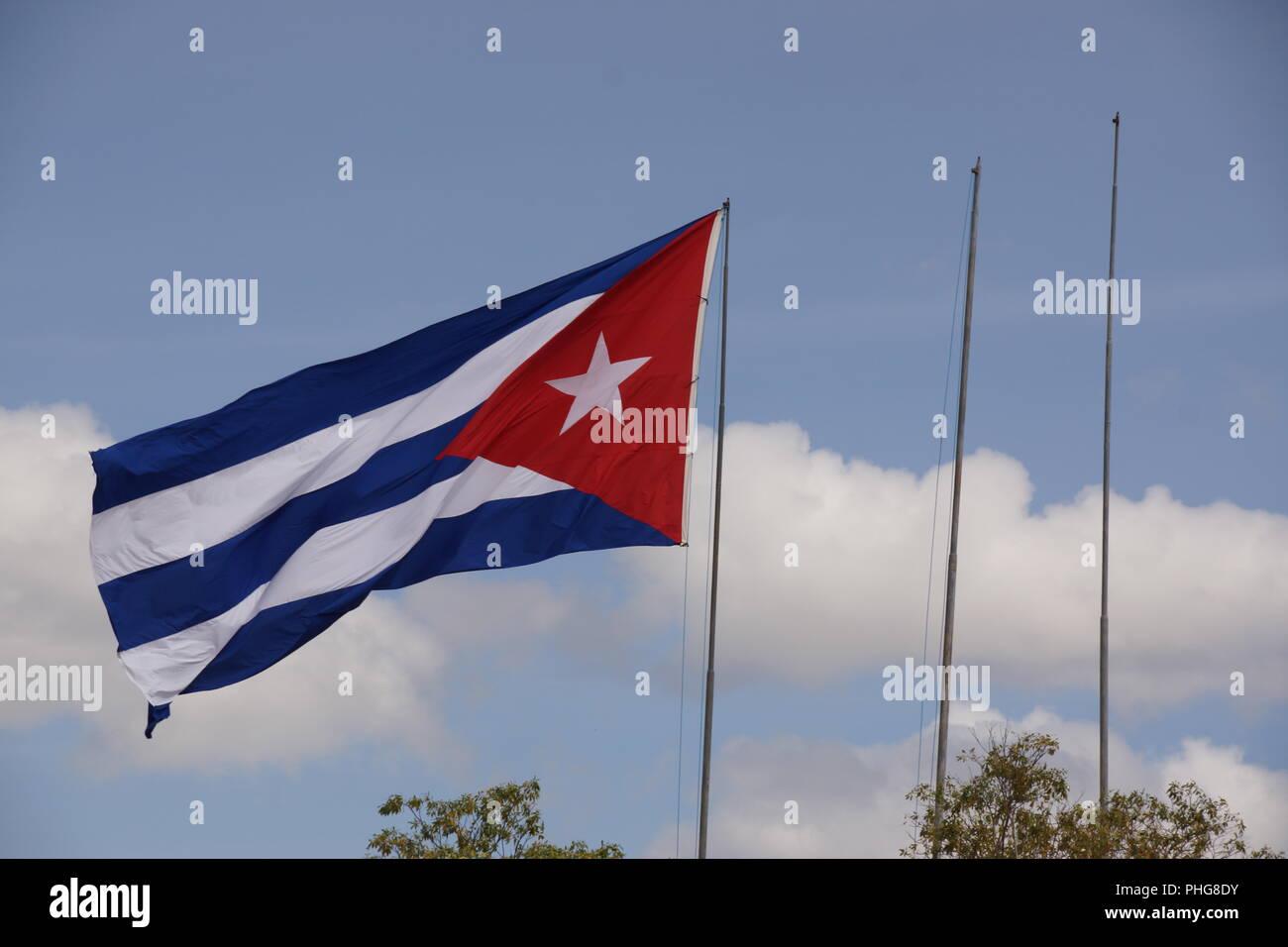 Blick auf die Skyline von Havanna und Malecon, Kuba Stockbild