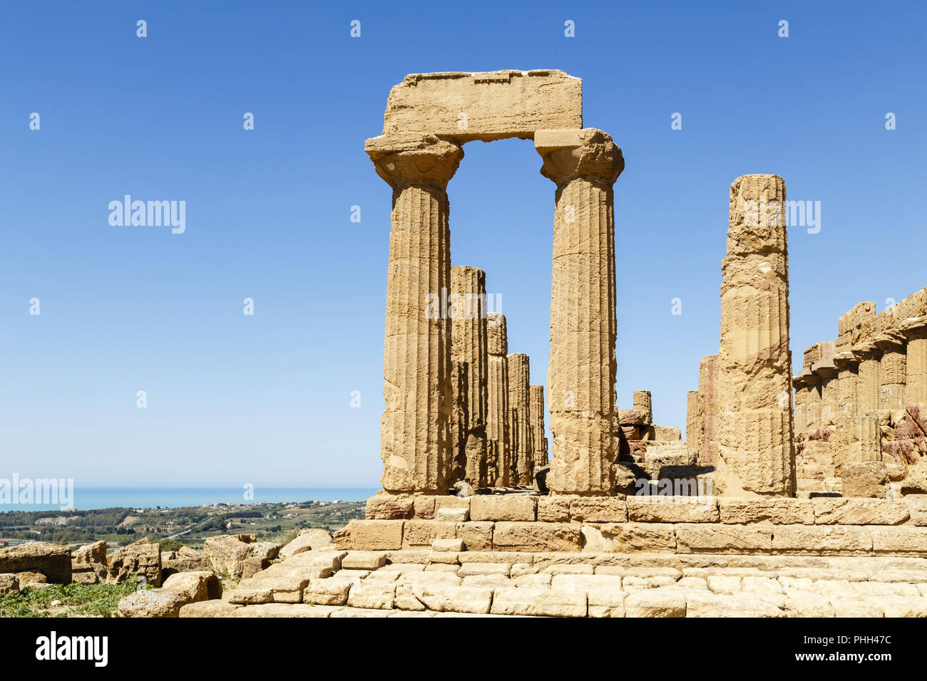 Valley of the Temples, Agrigento, Sizilien, Italien Stockbild