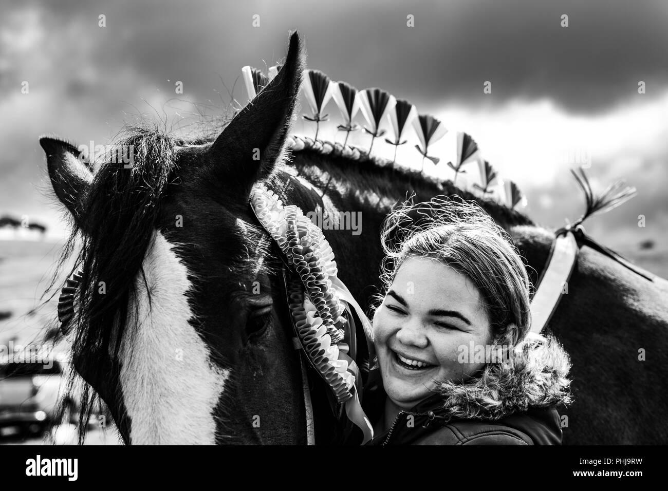 Ennerdale, Whitehaven, Cumbria, Großbritannien. 29. August 2018. Die Gemeinschaft der Ennerdale Wasser im Lake District halten ihre jährliche Landwirtschaft zeigen. Einbetten Stockbild