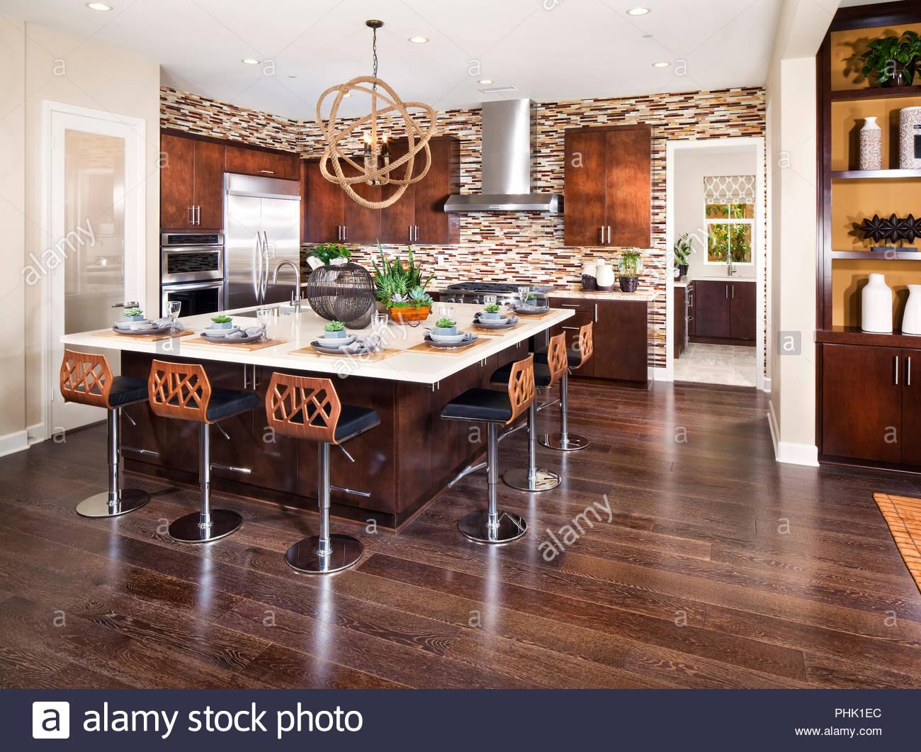 Inselküche Stockbild