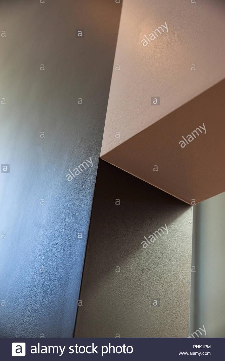 Niedrigen Winkel Blick auf Wand Stockbild