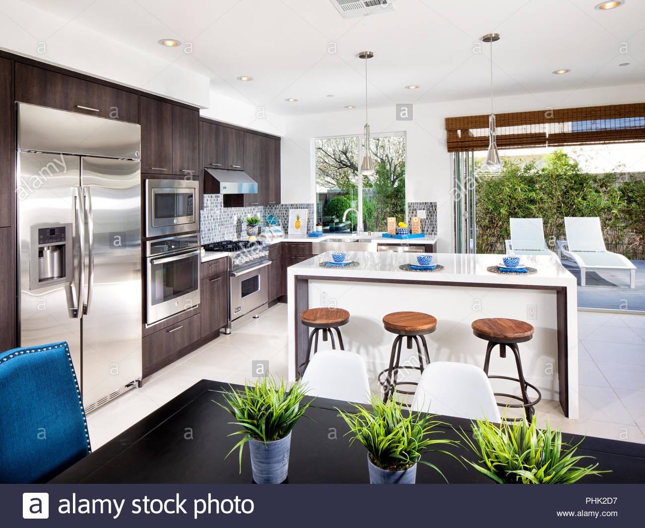 Moderne Küche Stockbild
