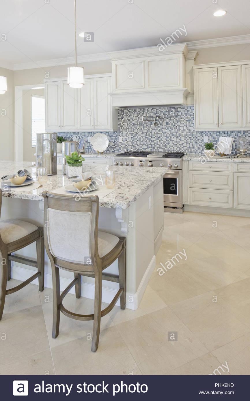 Weiße Küche Stockbild