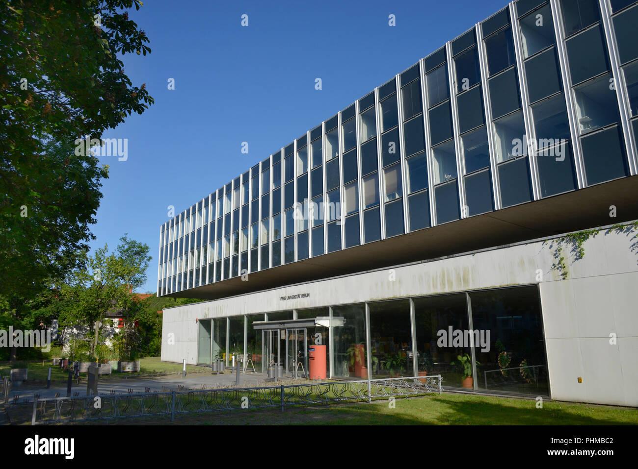 Freie Universität, Fachbereich Biologie Chemie, Koenigin-Luise-Straße 12 - 16, Dahlem, Berlin, Deutschland Stockbild