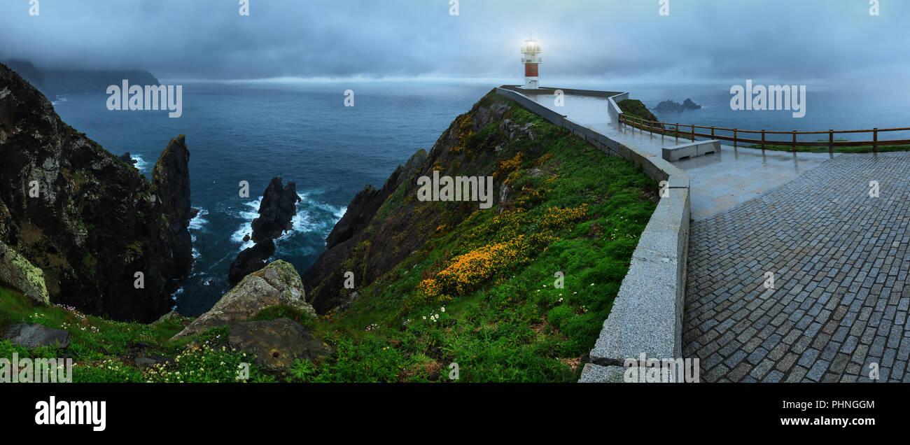 Leuchtet Kap Ortegal Leuchtturm (Spanien) Stockbild