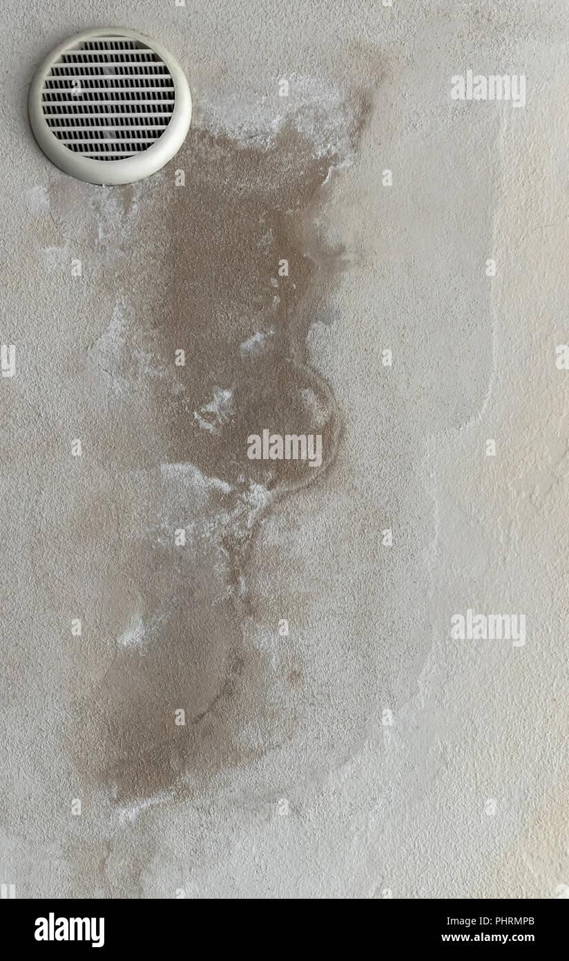 Feuchte Flecken Streifen Und Schimmel An Der Wand Stockfoto Bild