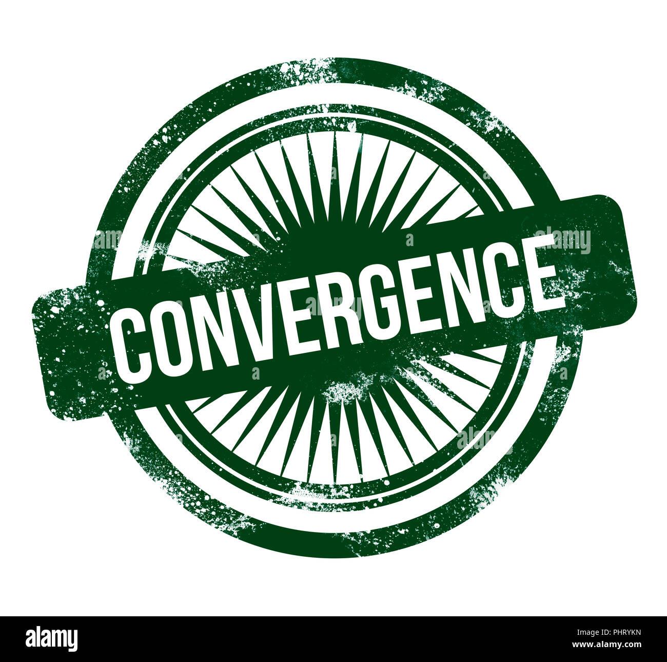 Konvergenz - Green grunge Stempel Stockbild