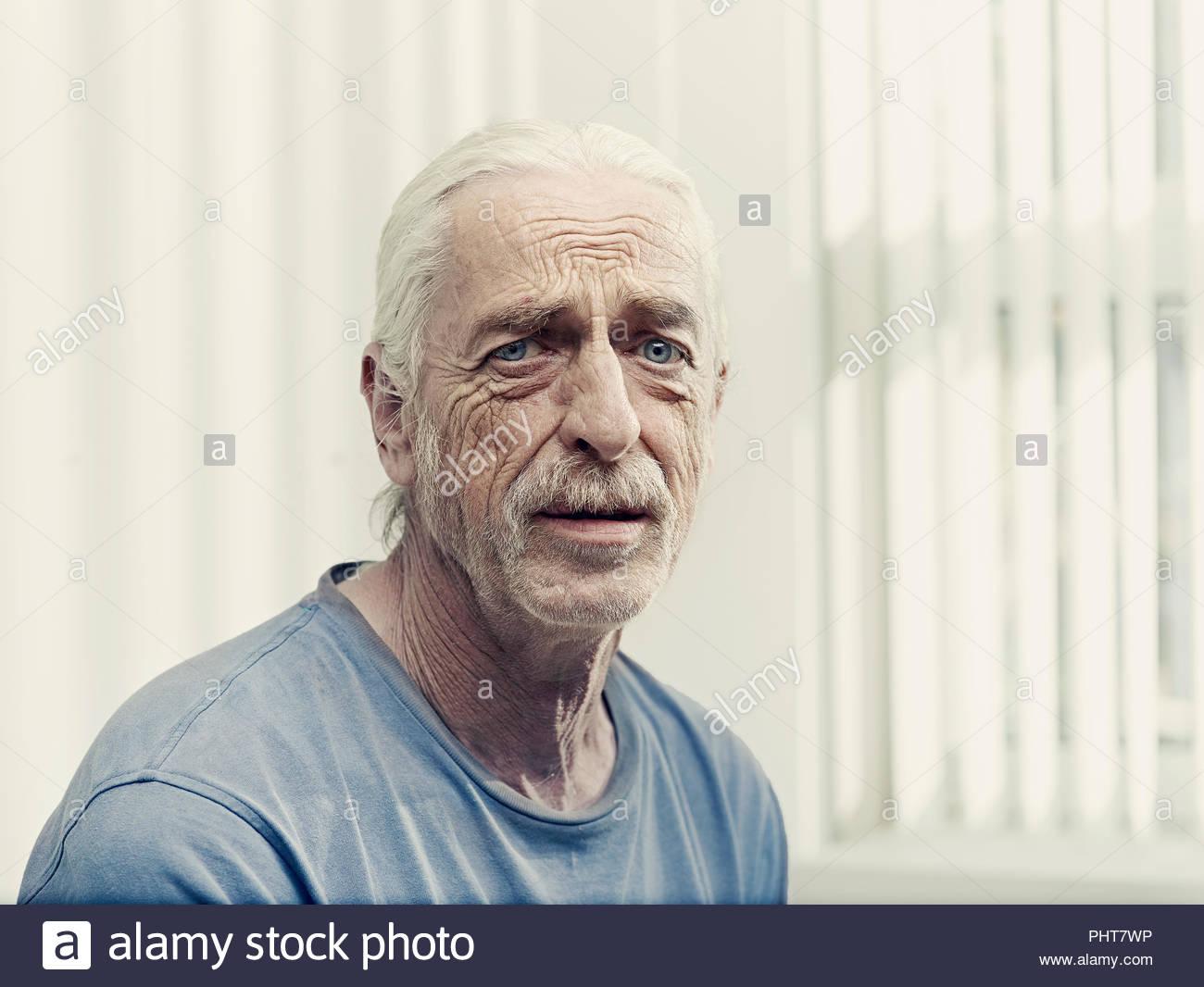 Portrait von älteren Mann Stockbild