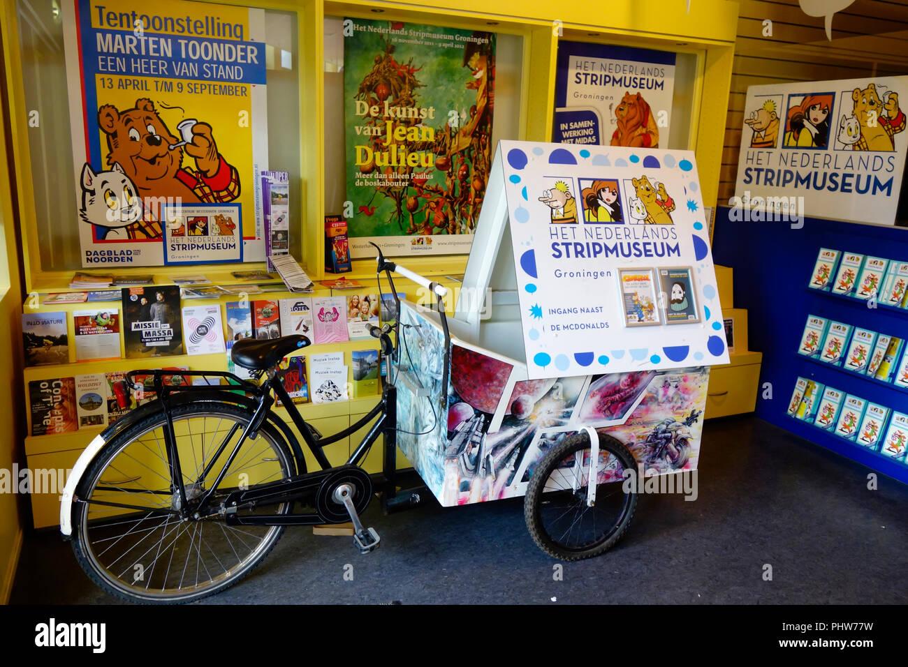 Het Nederlands Stripmuseum, (der Cartoon/Comic Museum) Groningen, Niederlande. Stockbild