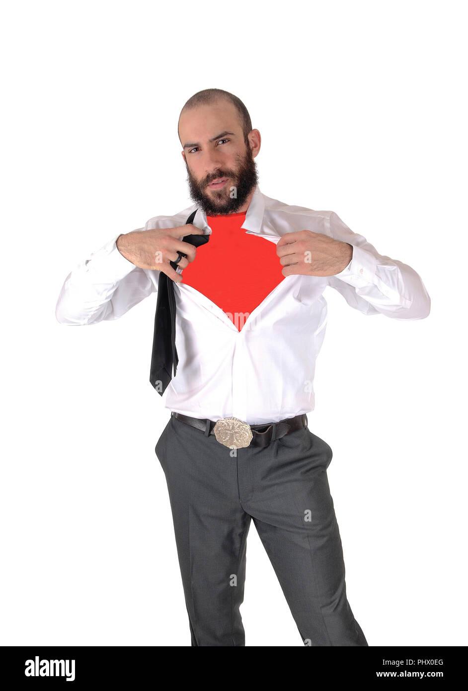a5adfd54607322 Junge groß schöner Mann, der seine Unterhemd Stockfoto, Bild ...