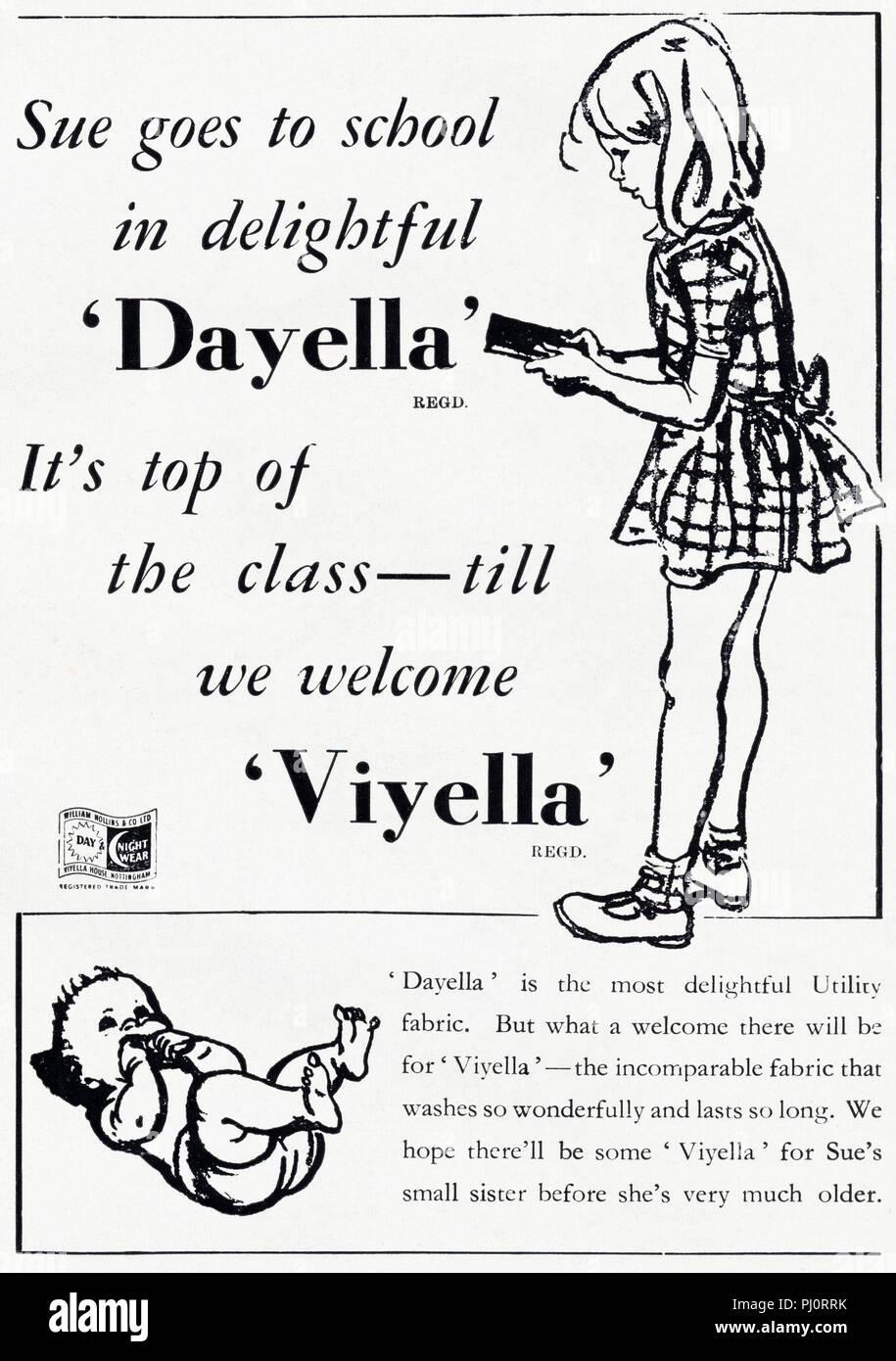 20er Jahre alten Vintage original advert Werbung Dayella ...