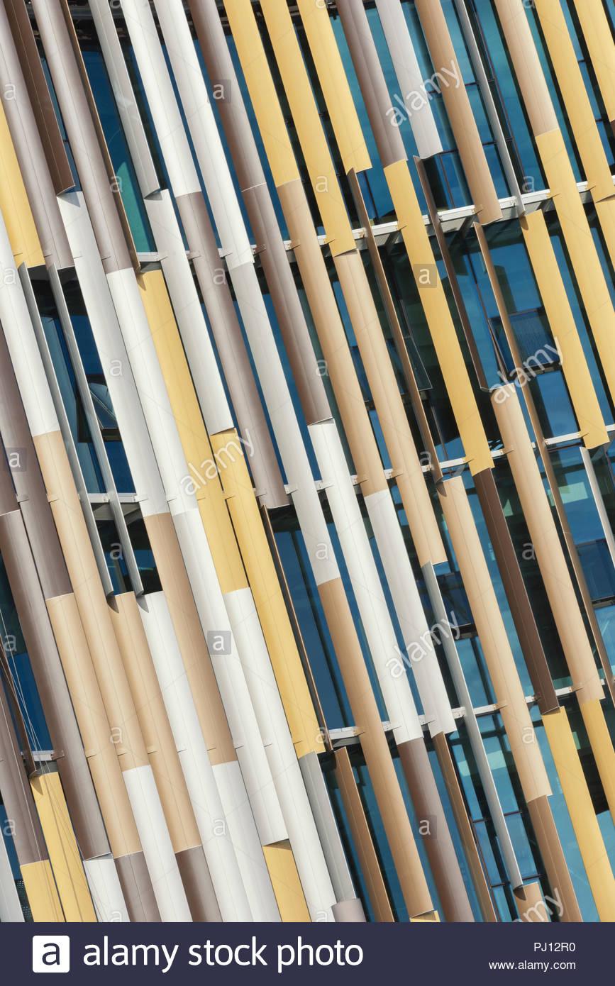 Zeitgenössische Architektur Detail, Auckland, Nordinsel, Neuseeland Stockbild