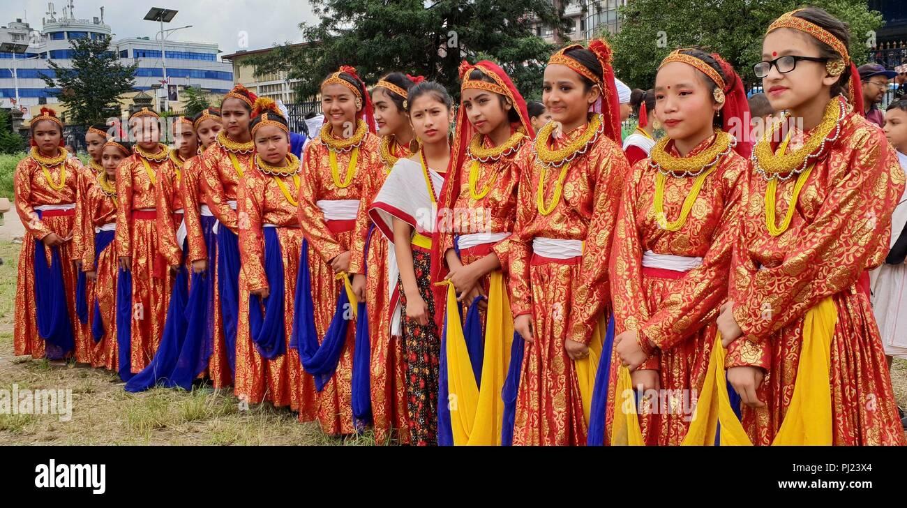 Kathmandu Nepal 3 Sep 2018 Madchen Aus Dem Fernen Westen