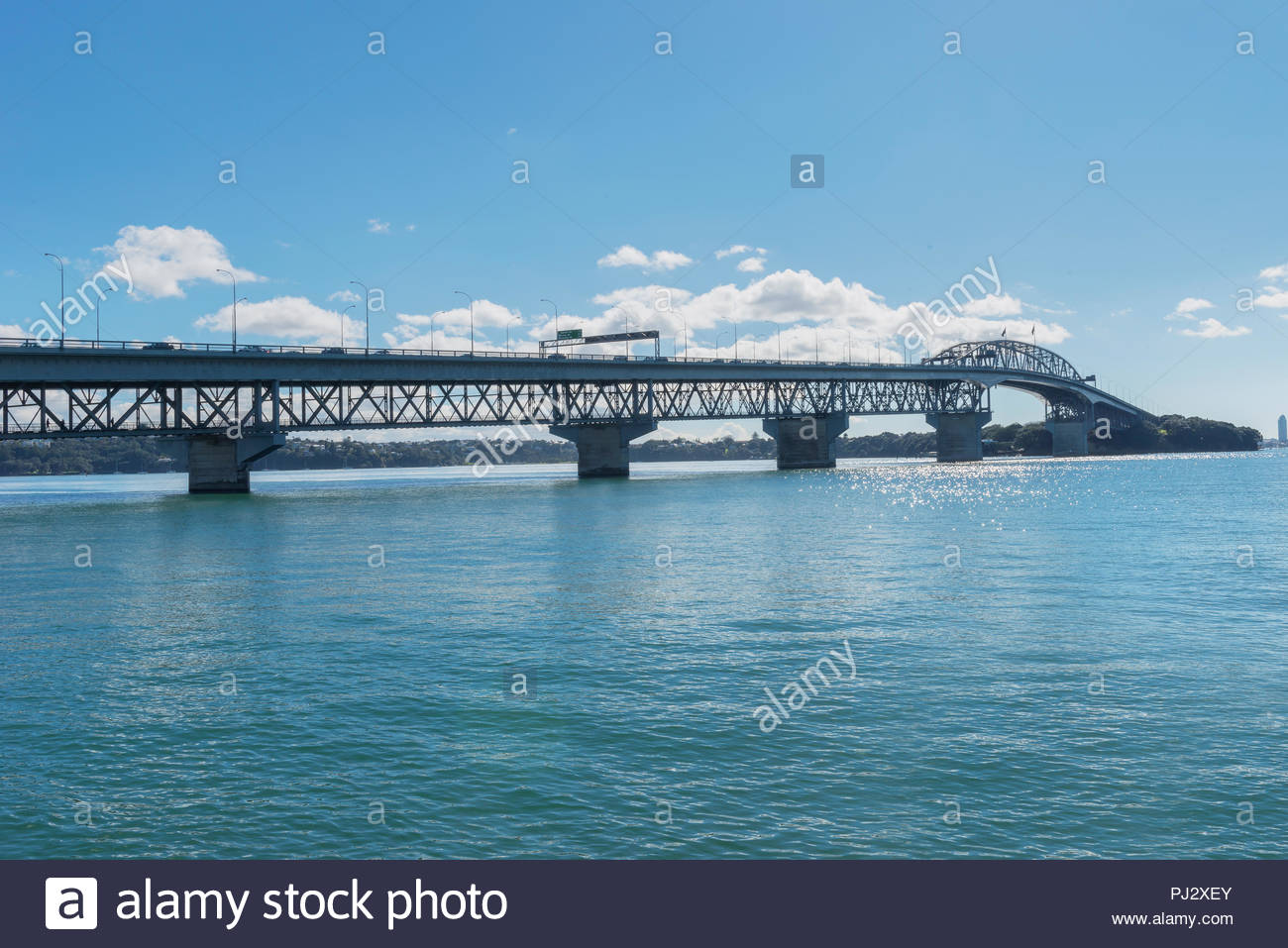 Harbour Bridge, Auckland, Nordinsel, Neuseeland Stockbild
