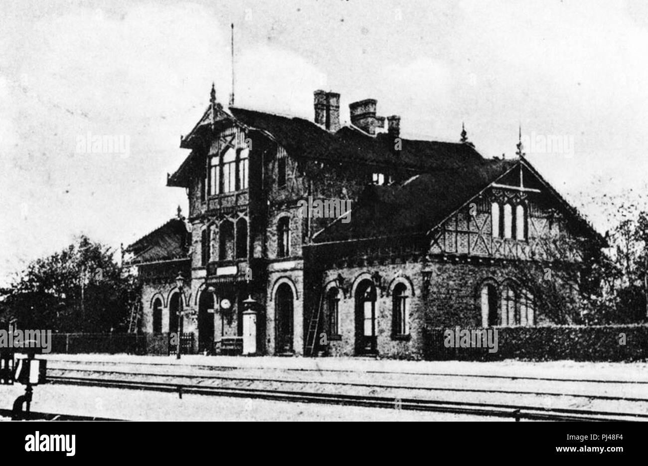 Bahnhof Goehrde. Stockfoto