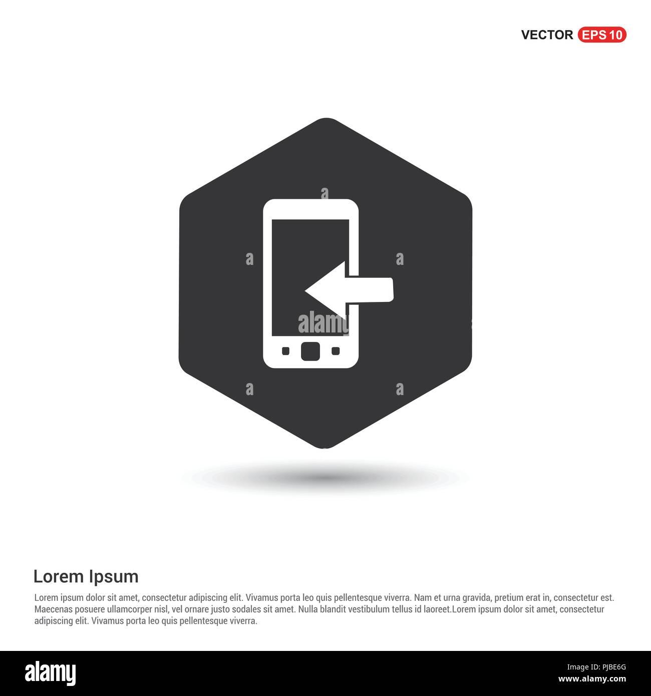Handy Symbol Hexa Weißen Hintergrund Symbol Vorlage Gratis Vektor