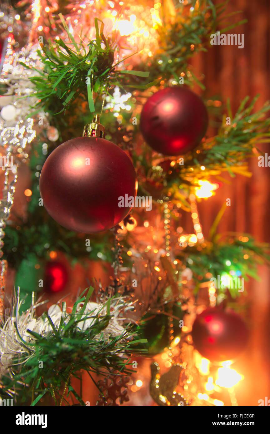 Weihnachten Girlanden geschmückten Weihnachtsbaum Hängen rattan Weihnachten