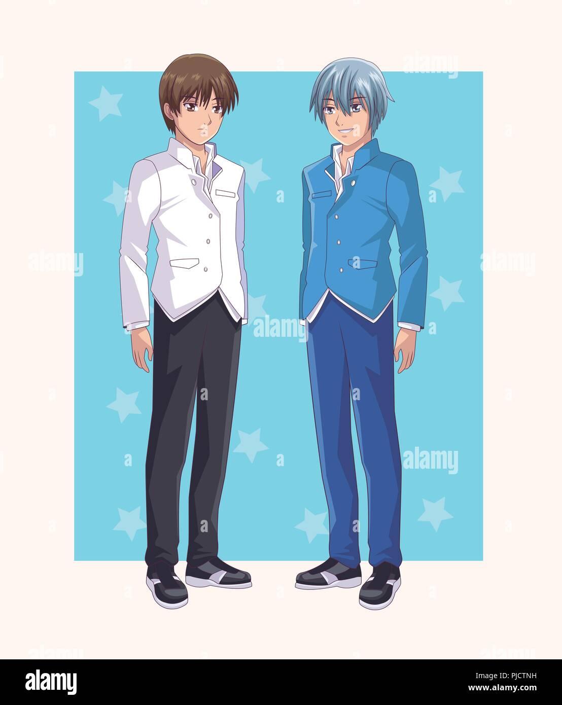 Abbildung Vektor Anime Mens Cartoons Junge Bild217871069 wiOkZuPXT