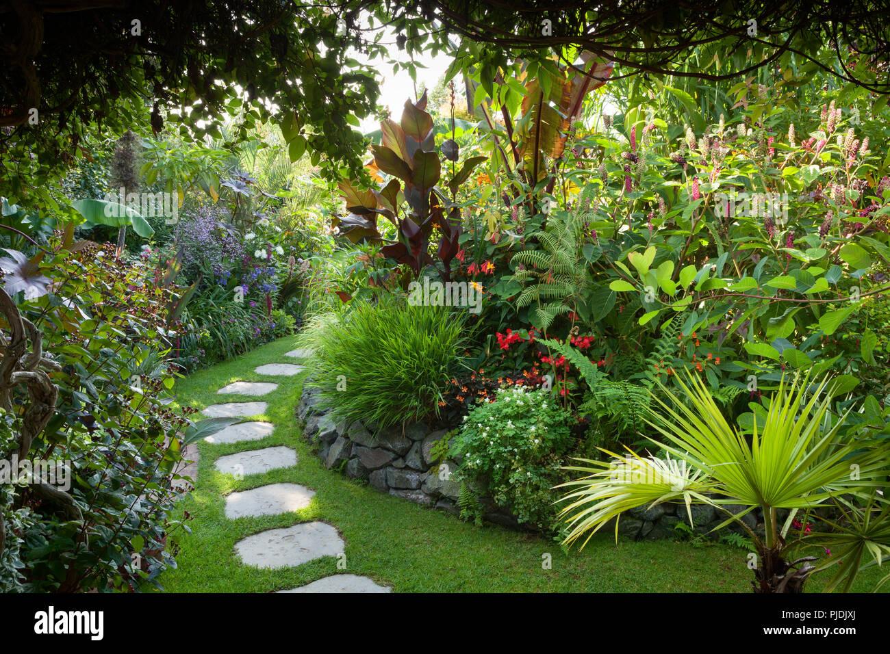 Der Geheime Garten Von Louth Im Spätsommer Louth Lincolnshire