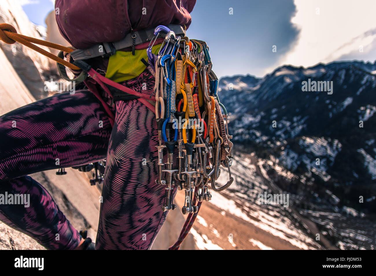 Kletterausrüstung Industrie : Traditionelle kletterausrüstung stockfotos