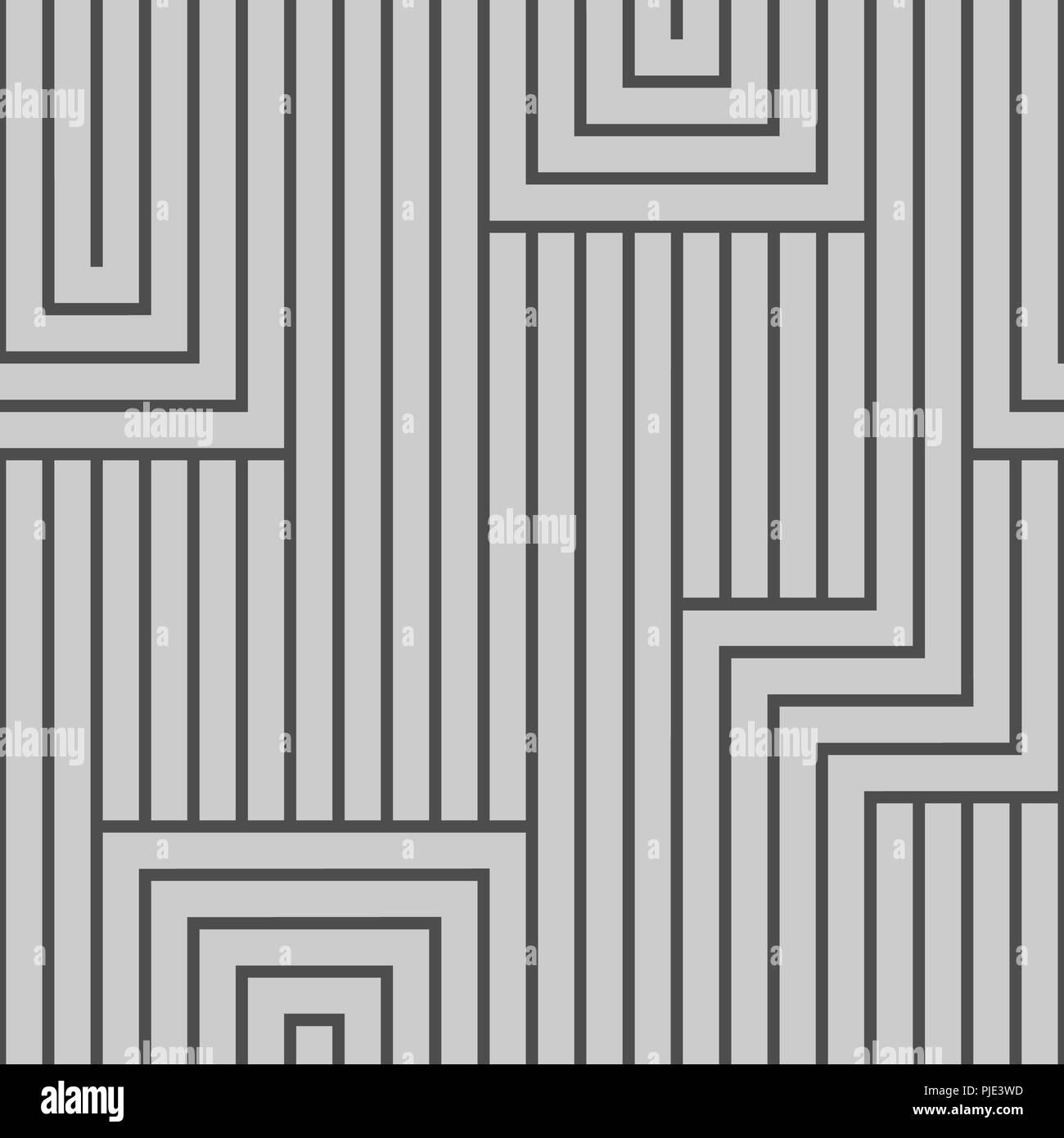 Schwarz Mit Weissen Linien Abstraktes Muster