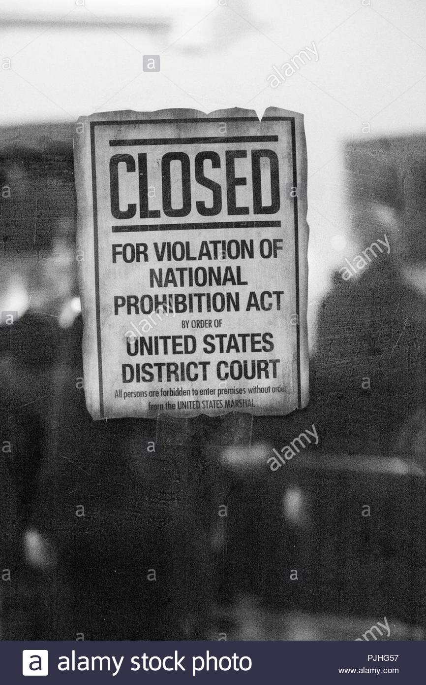 American Verbot Stockbild