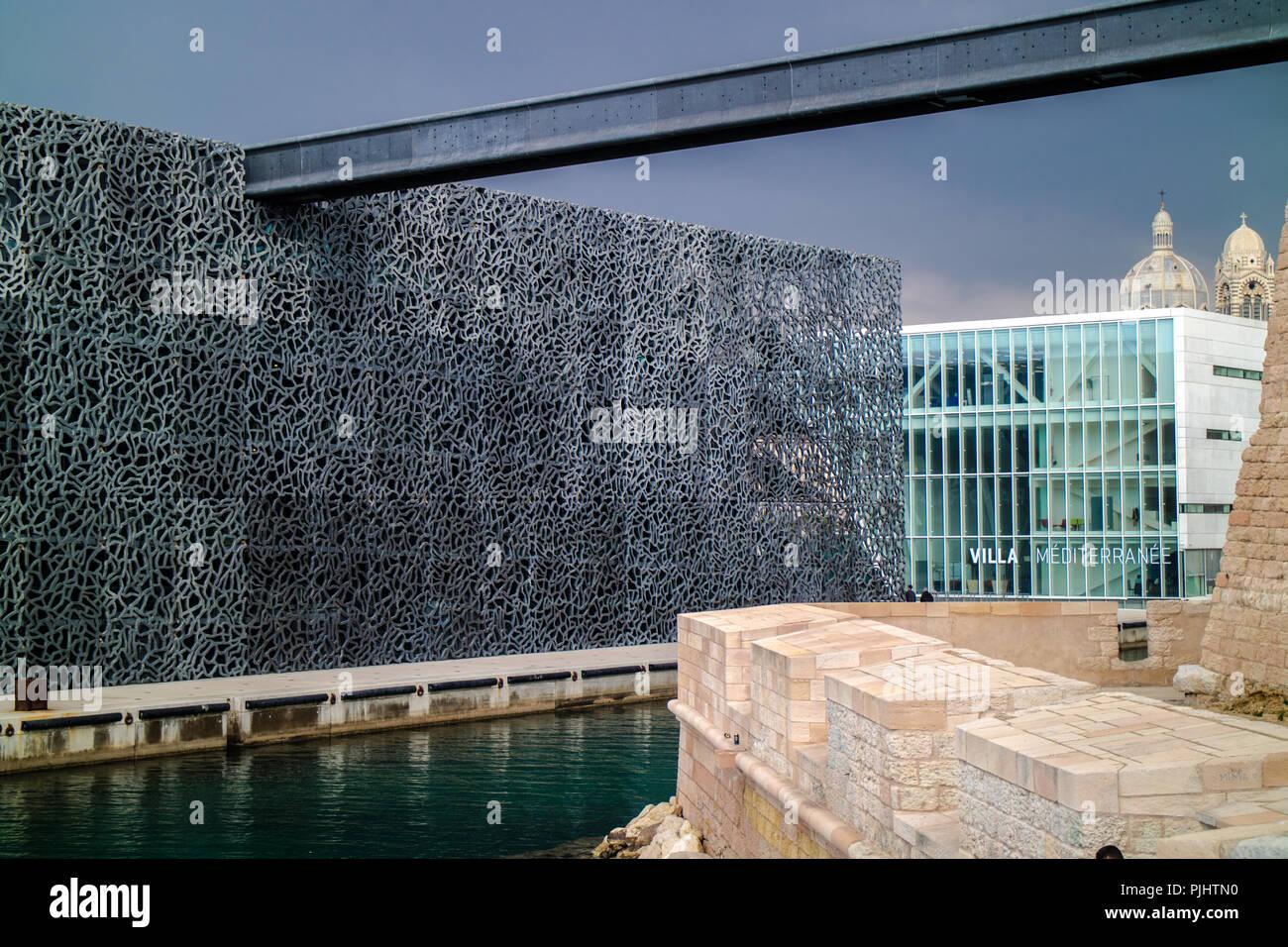 Frankreich Marseille Mucem Mandatory Credit Architekt Rudy Ricciotti Und Carta Associes Und Villa Mediterranee Architekten Stefano Boeri Stockfotografie Alamy