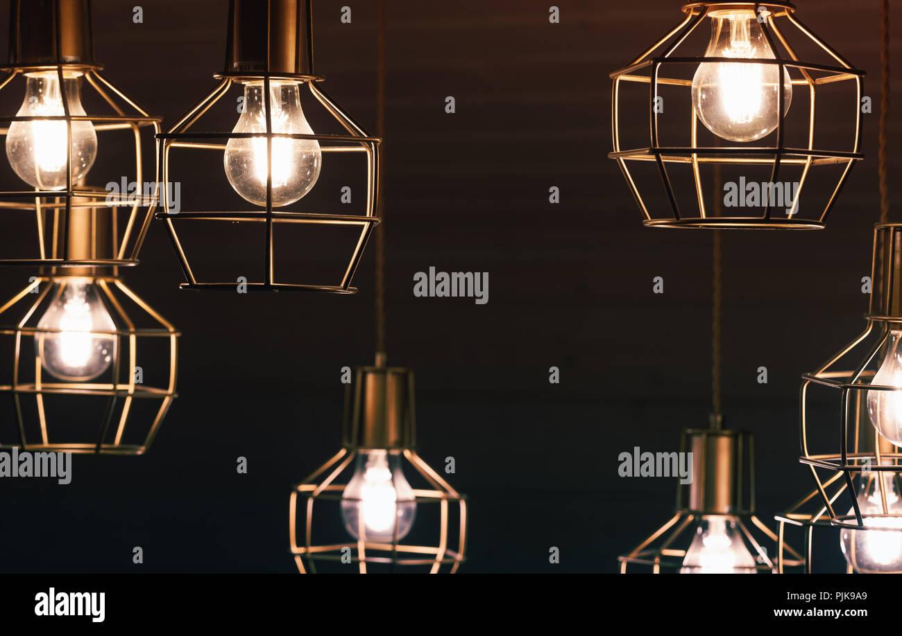 Kronleuchter Led Schwarz ~ Kronleuchter mit hängenden lampe lampen gelb led beleuchtung