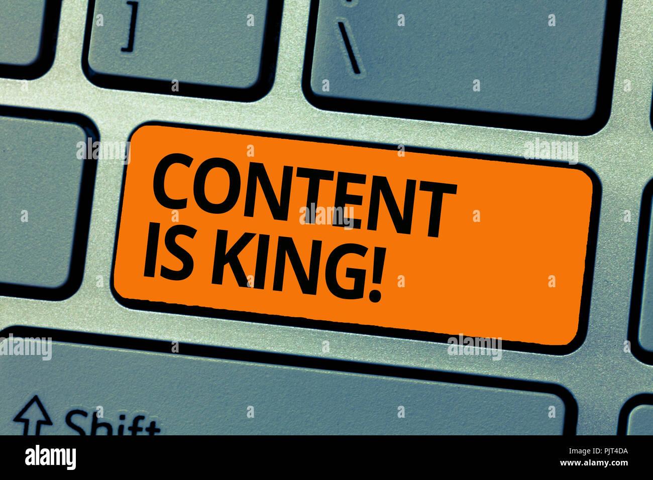 Wort Schreiben Text Inhalt Ist König Business Konzept Für Worte Was