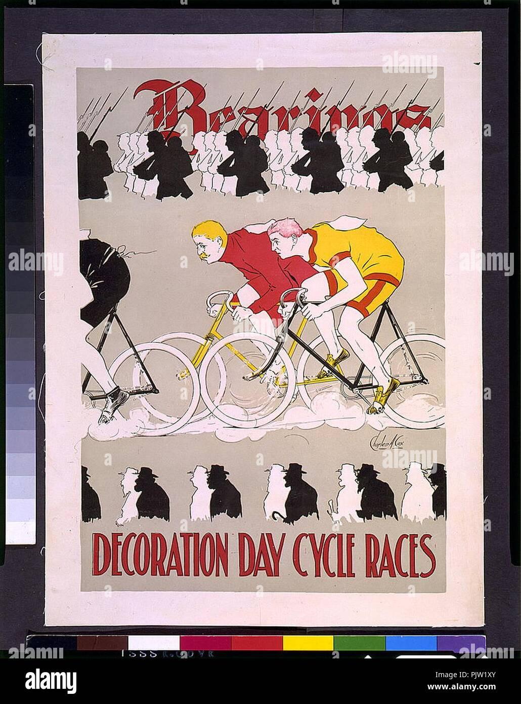 Die Lager Dekoration tag Radrennen - Charles A. Cox. Stockbild