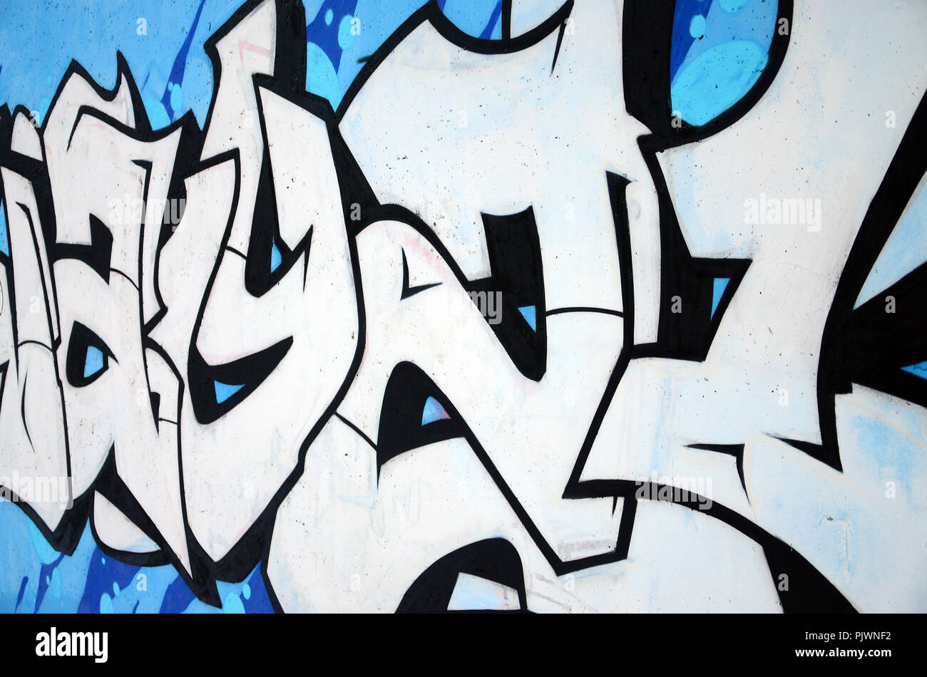 Die Alte Mauer In Farbe Graffiti Zeichnen Mit Aerosol Farben Gemalt