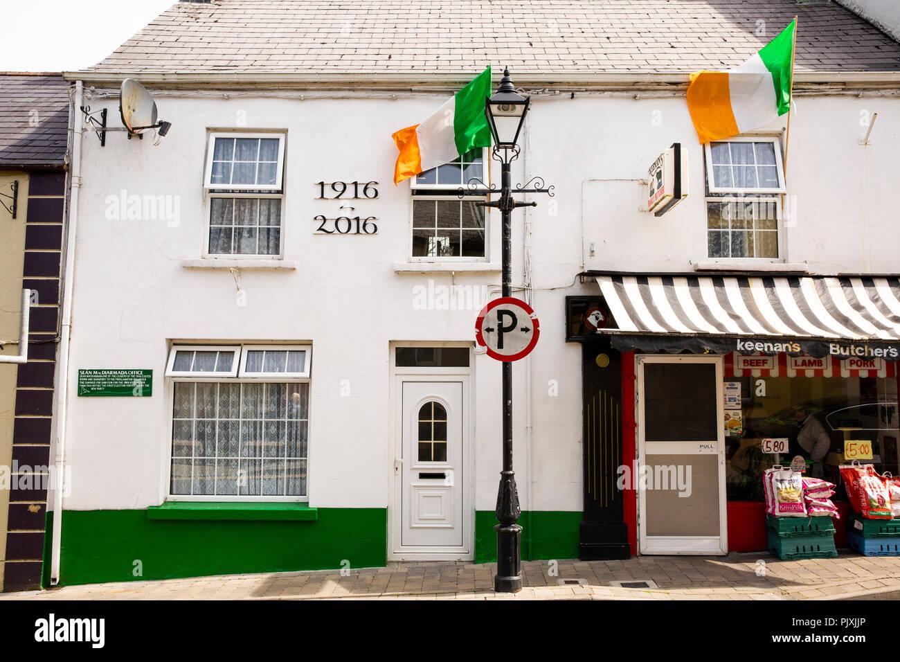 Irland, Co Leitrim, Manorhamilton, Sean MacDiarmarda, Führer der Ostern der steigenden Office, Sinn Féin Geschichte Stockbild