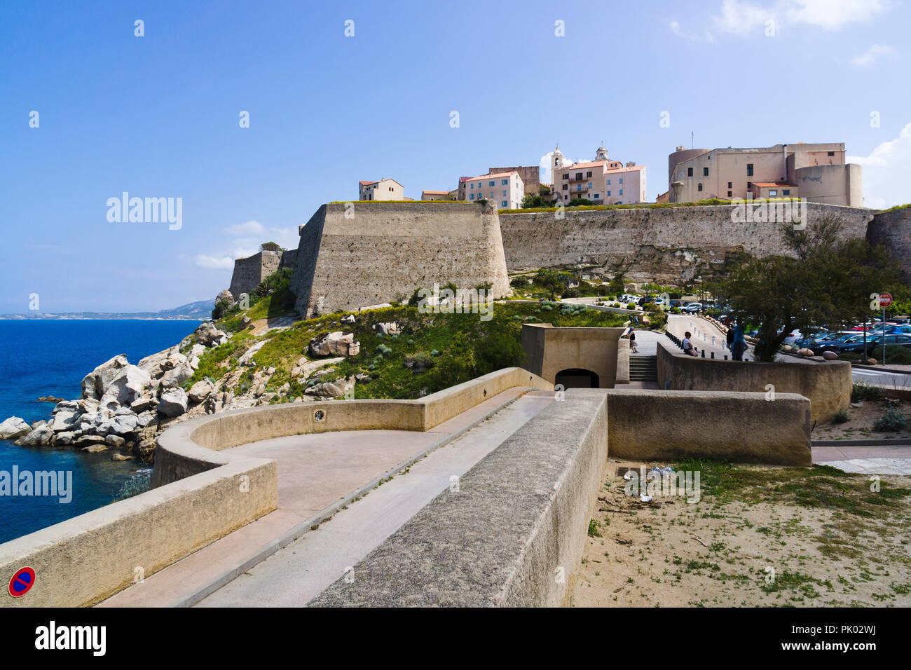 Zitadelle, Calvi, Korsika, Frankreich Stockbild
