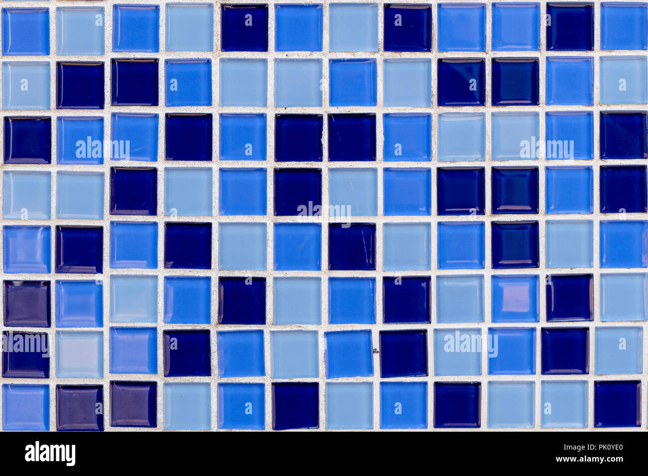 Abstrakt Blau Mosaik Fliesen Fur Hintergrund Fur Ihr Design