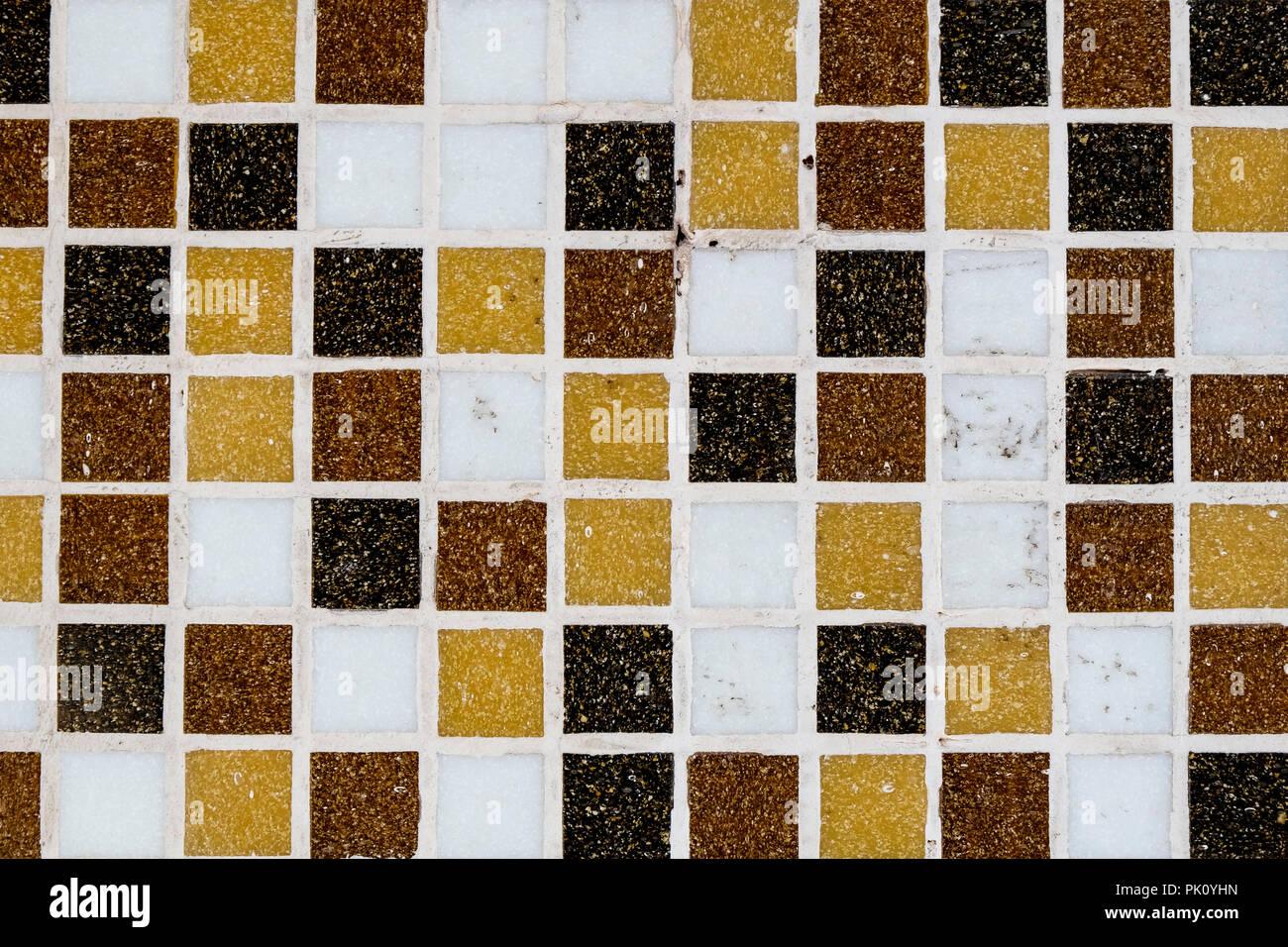 Abstrakte Schwarz Und Gelb Mosaik Fliesen Fur Hintergrund Fur Ihr