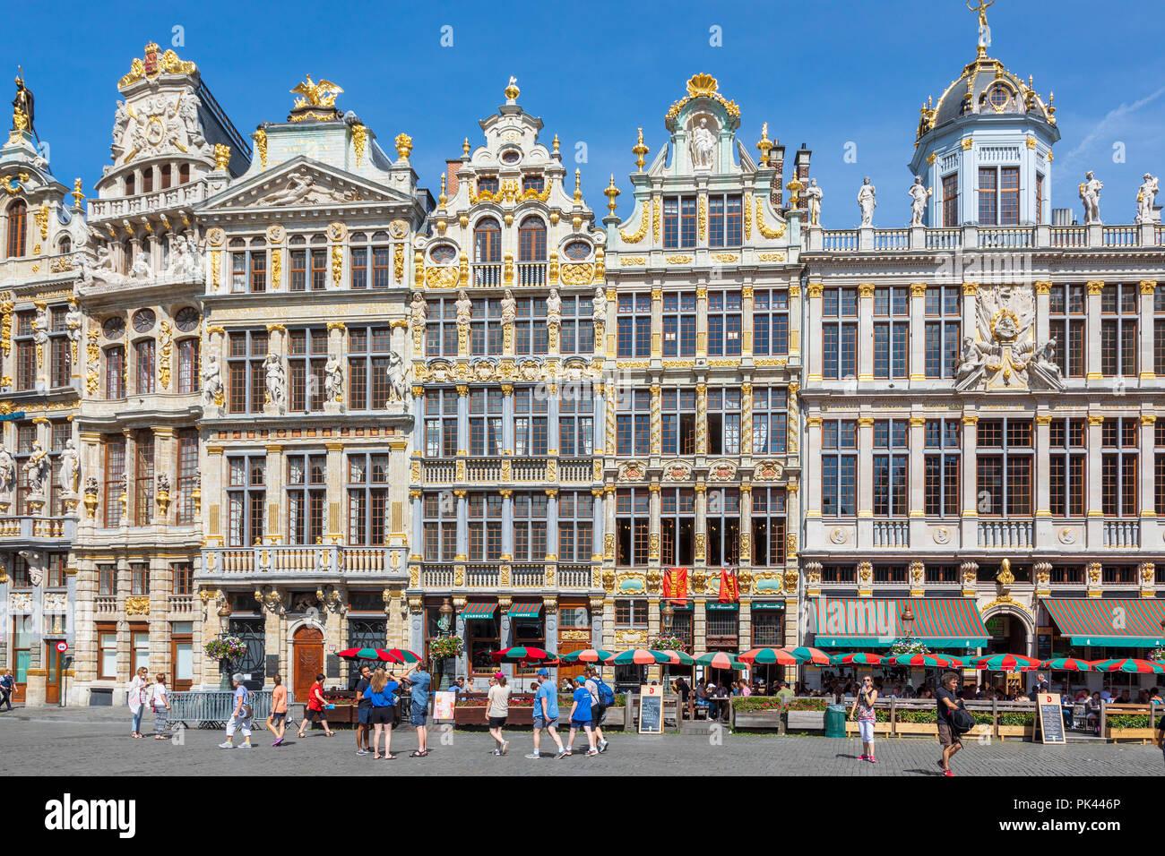 15. jahrhundert Architektur in Grand Place, Brüssel, ein UNESCO-Weltkulturerbe, Brüssel, Belgien Stockbild