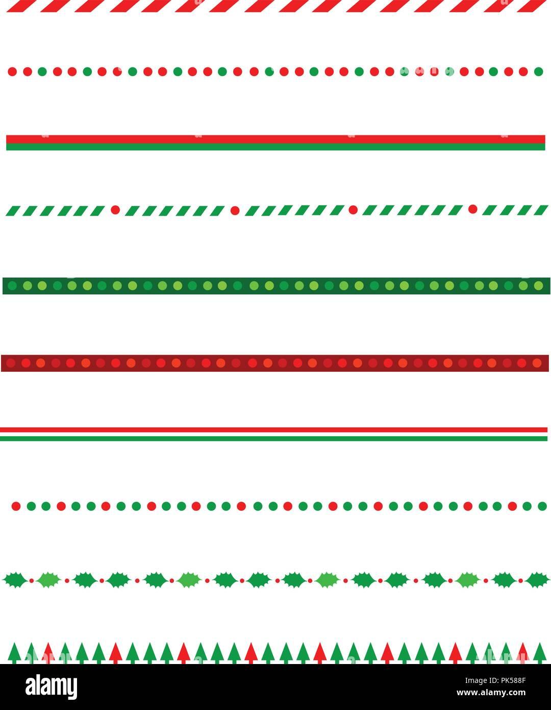 Sammlung von einfachen Weihnachten thematische Grenzen/Teiler ...